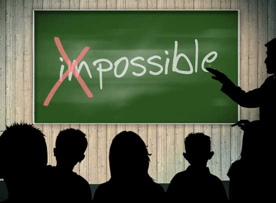 "Don't Build Barriers with the Word ""Impossible"""